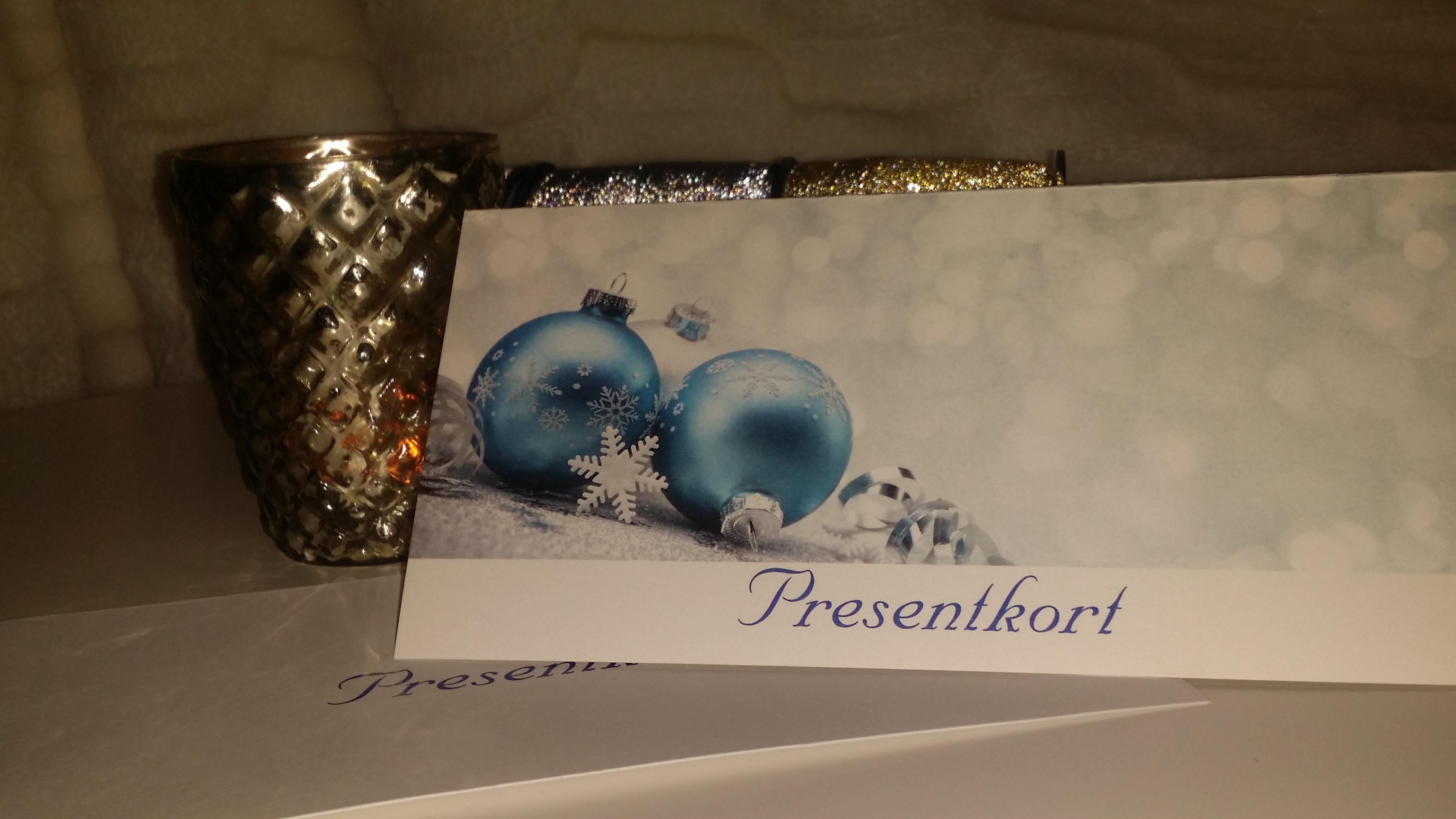 Presentkort 10% behandlingar för köp i december. 3 mån giltighet!